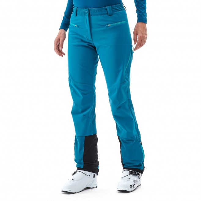 Women's wind resistant pant - ski touring - blue LD TOURING SHIELD PT Millet 2