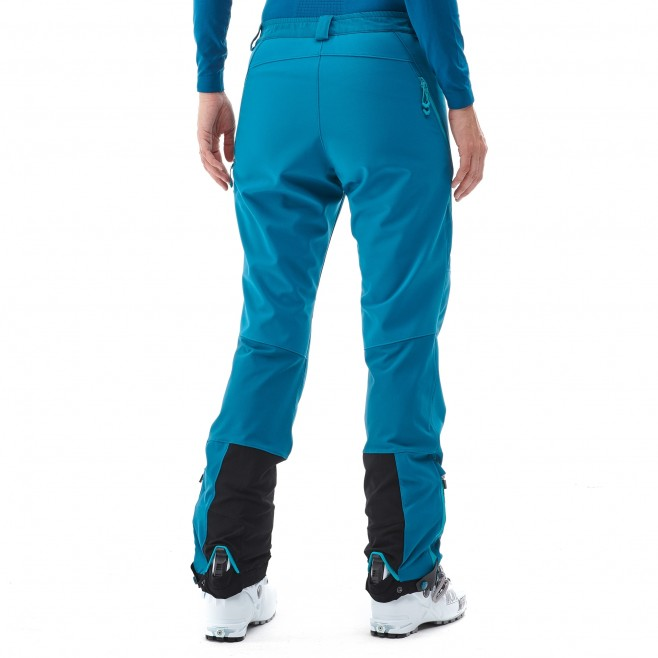 Women's wind resistant pant - ski touring - blue LD TOURING SHIELD PT Millet 3