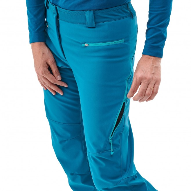 Women's wind resistant pant - ski touring - blue LD TOURING SHIELD PT Millet 4