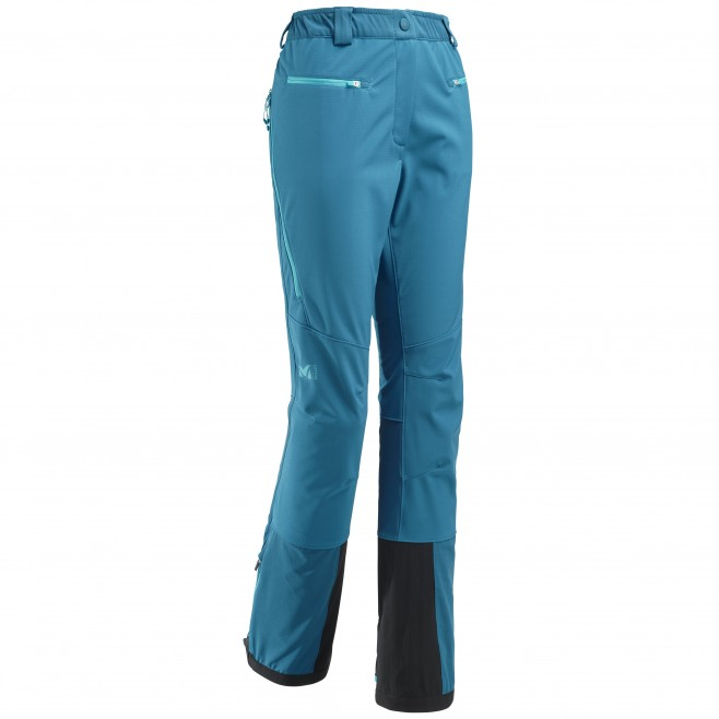 Women's wind resistant pant - ski touring - blue LD TOURING SHIELD PT Millet
