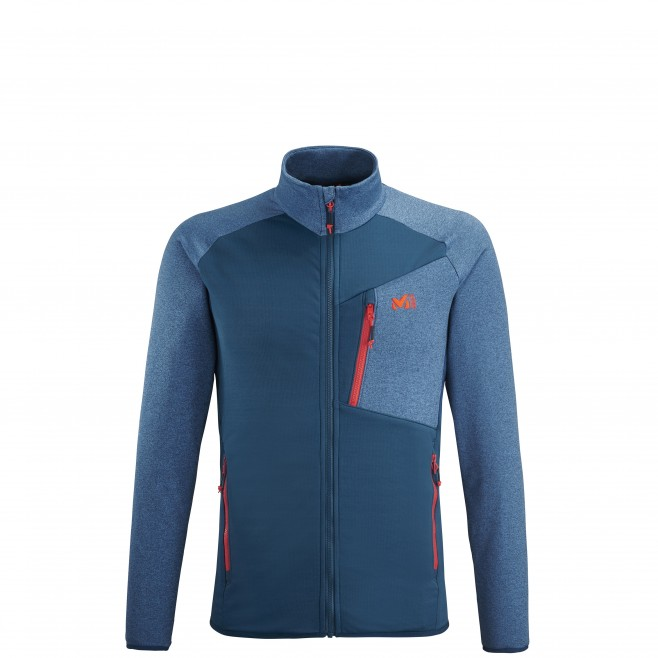 Men's lightweight fleece jacket - ski - blue SENECA TECNO JKT Millet