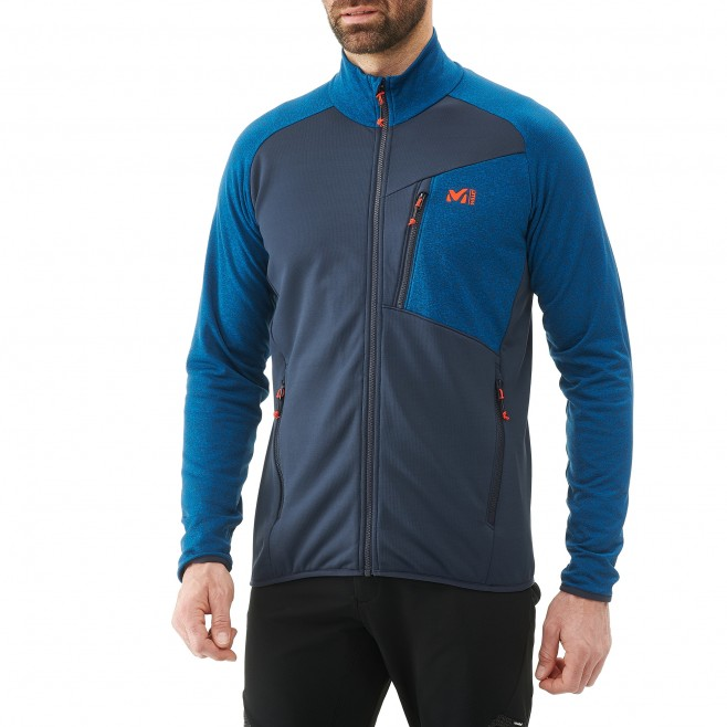 Men's lightweight fleece jacket - ski - blue SENECA TECNO JKT Millet 2