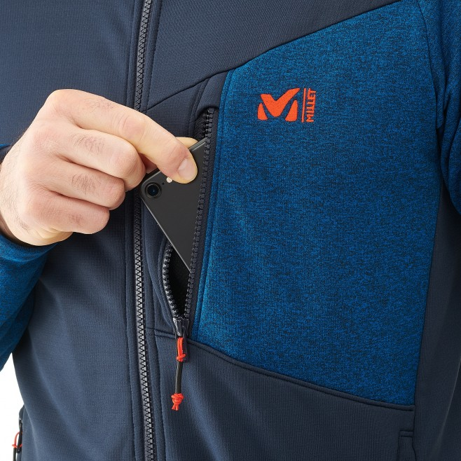 Men's lightweight fleece jacket - ski - blue SENECA TECNO JKT Millet 4