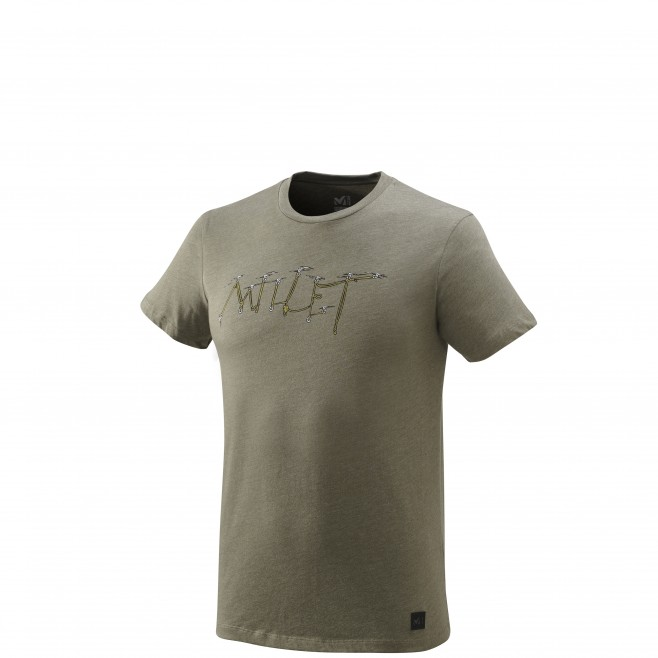 Men's short sleeves t-shirt - climbing - khaki KALOGRIA TS SS Millet