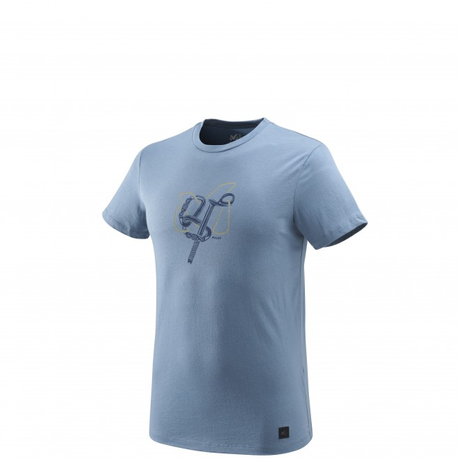 Men's short sleeves t-shirt - climbing - blue GRANITOLA TS SS Millet