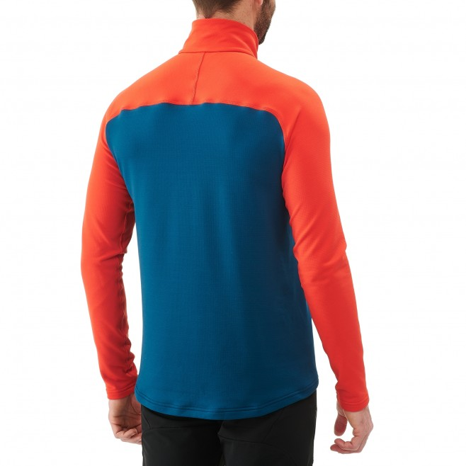 Men's lightweight fleece jacket - ski - blue TECHNOSTRETCH ZIP Millet 3
