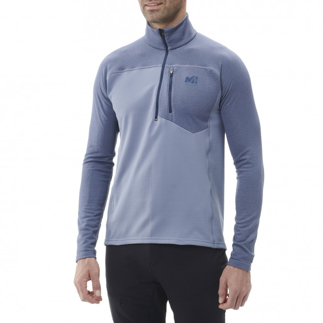 Men's lightweight fleece jacket - ski - blue TECHNOSTRETCH ZIP Millet 2