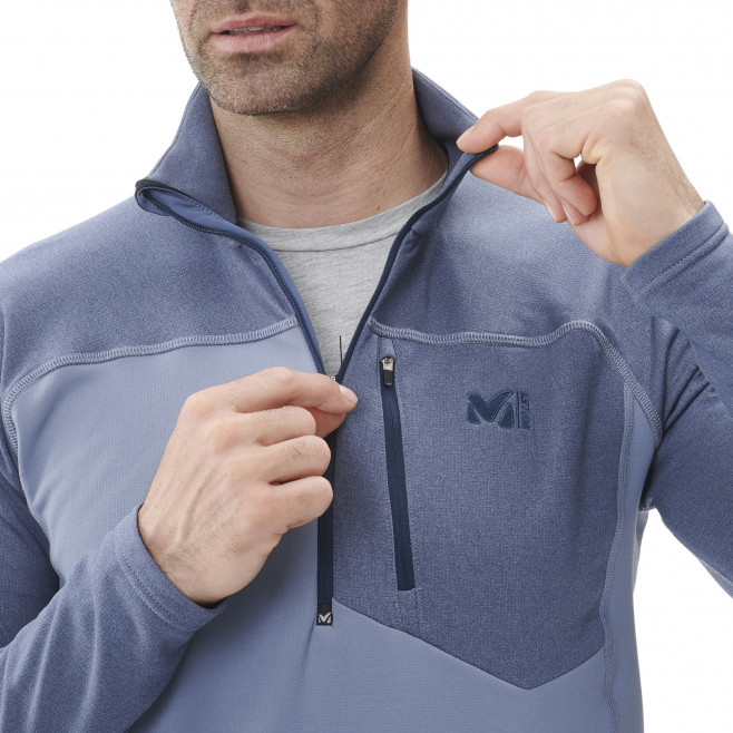 Men's lightweight fleece jacket - ski - blue TECHNOSTRETCH ZIP Millet 5