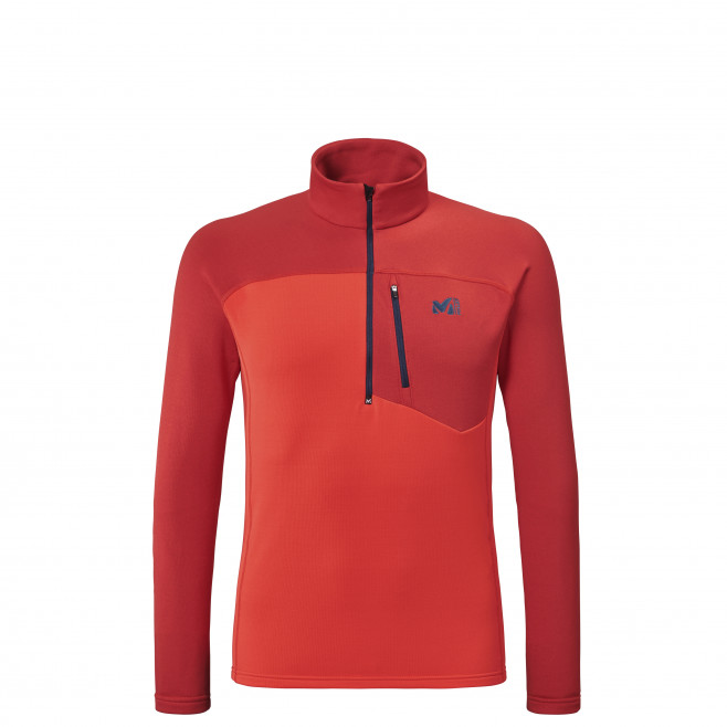 Men's lightweight fleecejacket - red TECHNOSTRETCH ZIP M Millet