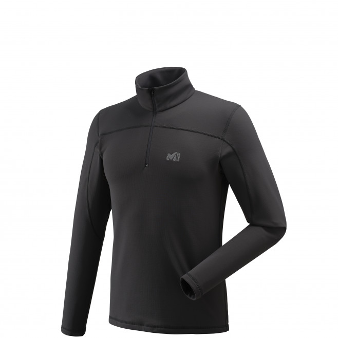 Men's lightweight fleecejacket - black TECHNOSTRETCH PO Millet