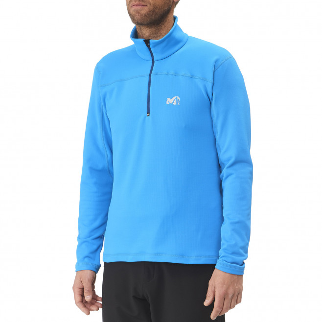 Men's lightweight fleece jacket - ski - orange TECHNOSTRETCH PO Millet 2