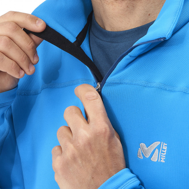 Men's lightweight fleece jacket - ski - orange TECHNOSTRETCH PO Millet 4