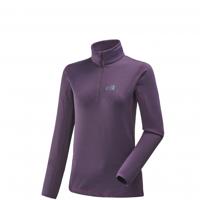 Women's lightweight fleece jacket - ski - purple LD TECH STRETCH TOP Millet