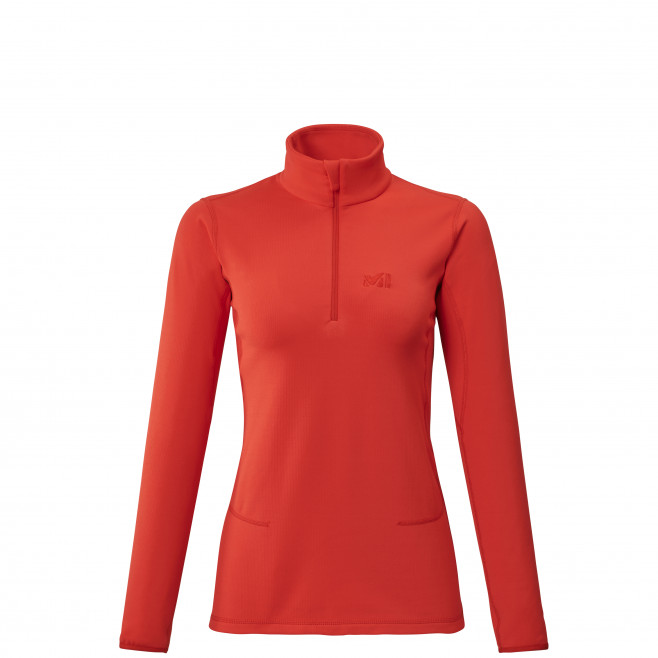 Women's lightweight fleecejacket - red TECH STRETCH TOP W Millet