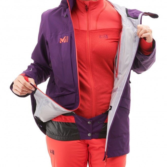 Women's jacket - ski - purple LD ANDROMEDA STRETCH JKT Millet 5