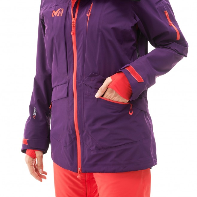 Women's jacket - ski - purple LD ANDROMEDA STRETCH JKT Millet 6