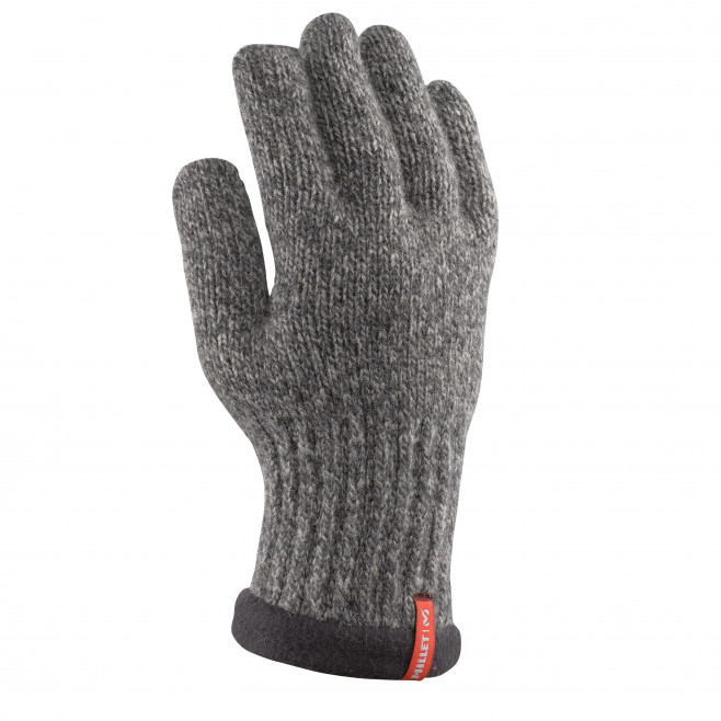 Men's gloves - hiking - black WOOL GLOVE Millet