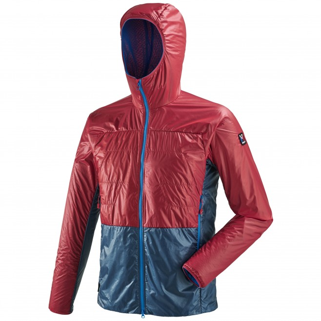 Men's down jacket - alpinism - red TRILOGY EDGE ALPHA HOODIE Millet