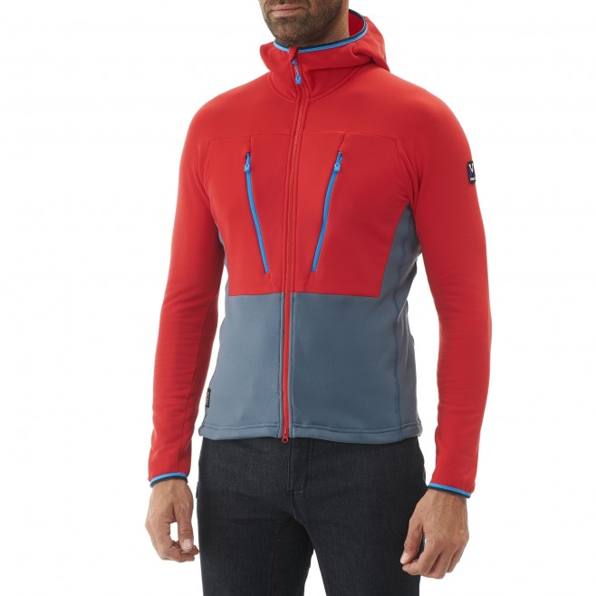 Men's very warm fleecejacket - alpinism - red TRILOGY ULTIMATE POWER HOODIE Millet 4
