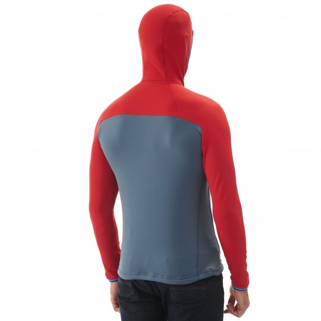 Men's very warm fleecejacket - alpinism - red TRILOGY ULTIMATE POWER HOODIE Millet 5
