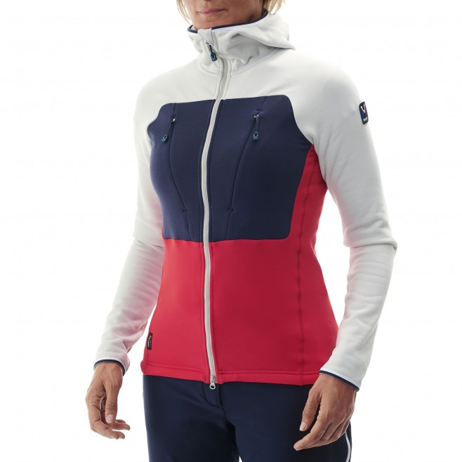 Women's very warm fleecejacket - mountaineering - red LD TRILOGY ULTIMATE POWER HOODIE Millet 5