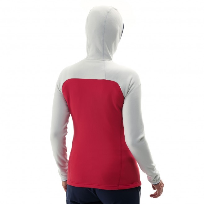 Women's very warm fleecejacket - mountaineering - red LD TRILOGY ULTIMATE POWER HOODIE Millet 6