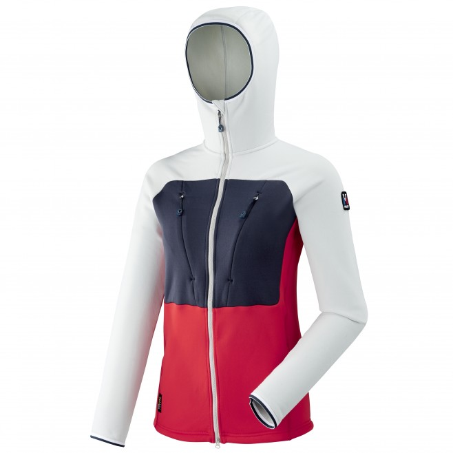Women's very warm fleecejacket - mountaineering - red LD TRILOGY ULTIMATE POWER HOODIE Millet