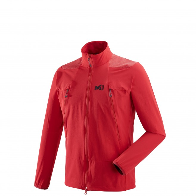 Men's softshell jacket - mountaineering - red K ABSOLUTE XCS JKT Millet