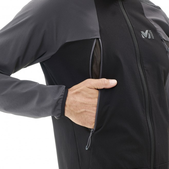 Men's softshell jacket - mountaineering - black K ABSOLUTE XCS JKT Millet 5