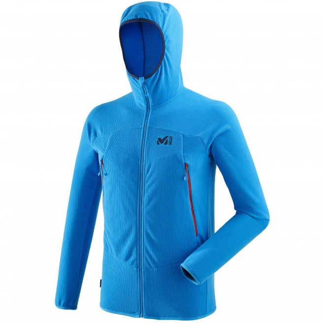 Men's lightweight fleecejacket - mountaineering - blue K LIGHTGRID HOODIE Millet