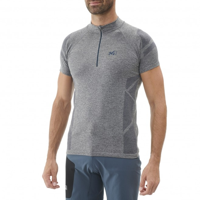 Men's tee-shirt - navy-blue LTK SEAMLESS LIGHT ZIP SS M Millet 2