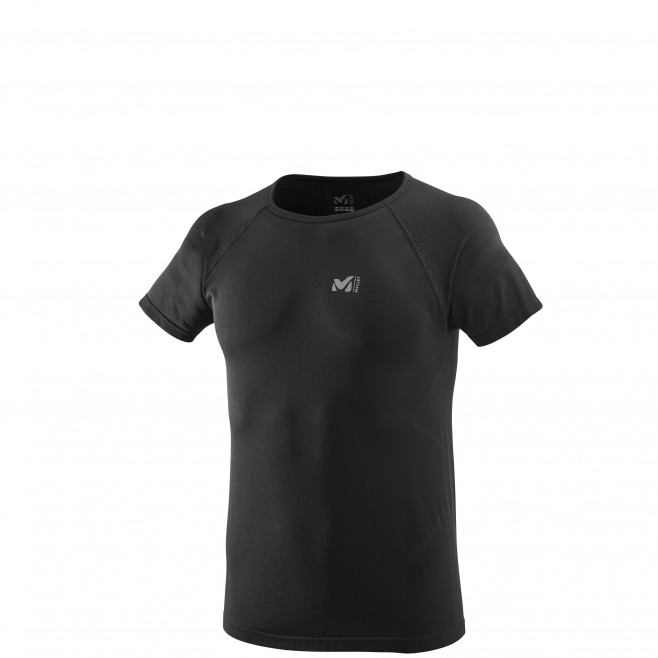 Men's short sleeves t-shirt - trail running - black LTK SEAMLESS LIGHT TS SS Millet