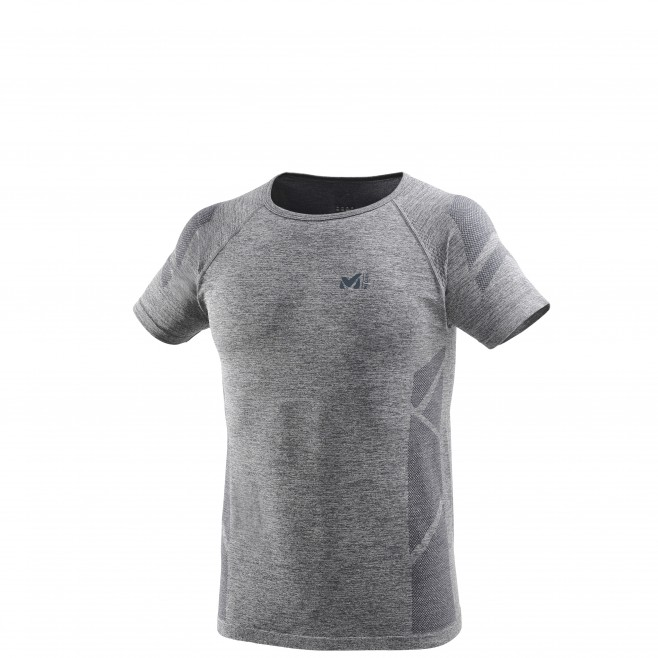 Men's short sleeves t-shirt - trail running - grey LTK SEAMLESS LIGHT TS SS Millet