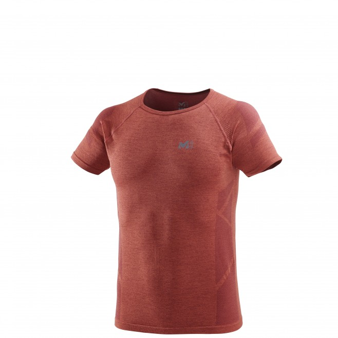 Men's short sleeves t-shirt - trail running - orange LTK SEAMLESS LIGHT TS SS Millet