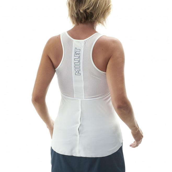 Women's tank top - trail running - white LD LTK INTENSE LIGHT TANK Millet 3