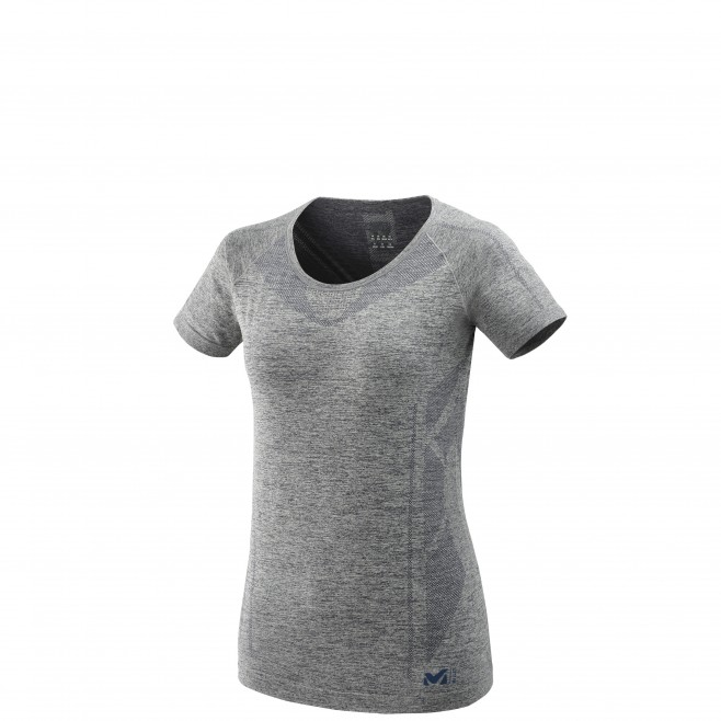 Women's tee-shirt - grey LTK SEAMLESS LIGHT TS SS W Millet