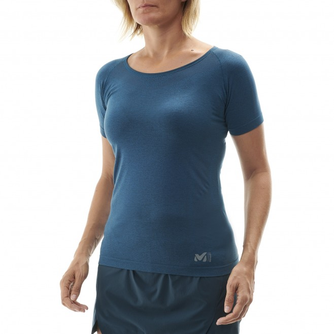Women's tee-shirt - navy-blue LTK SEAMLESS LIGHT TS SS W Millet 2