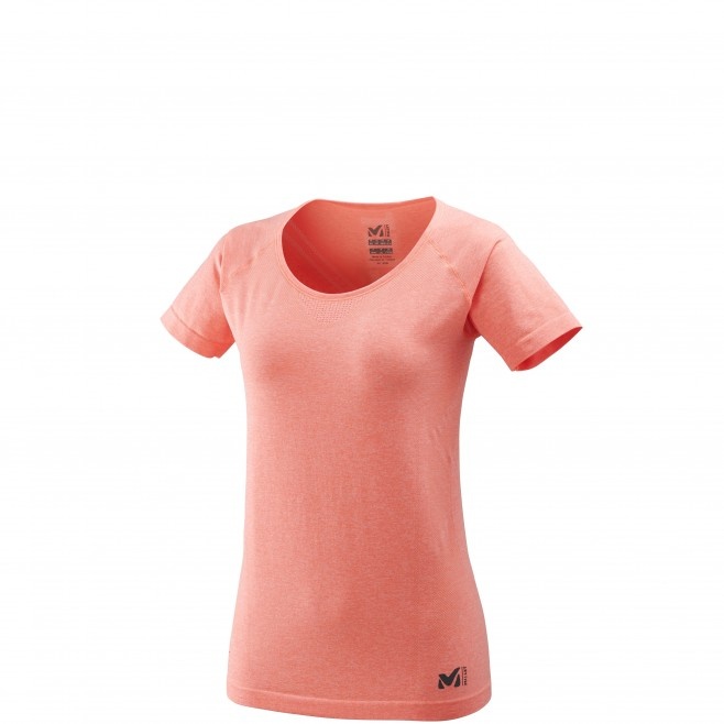 Women's tee-shirt - pink LTK SEAMLESS LIGHT TS SS W Millet