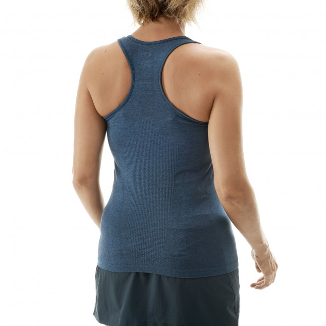 Women's tank top - trail running - navy-blue LD LTK SEAMLESS LIGHT TANK Millet 3