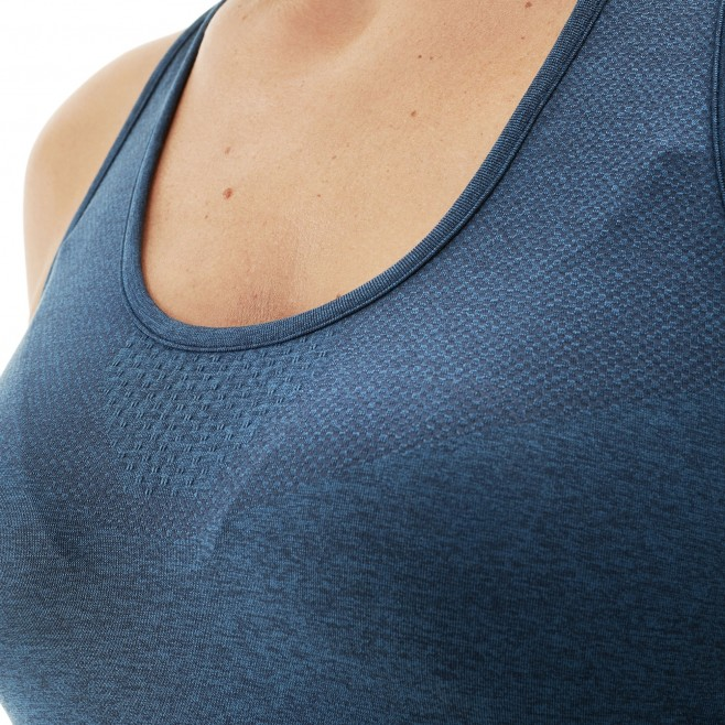 Women's tank top - trail running - navy-blue LD LTK SEAMLESS LIGHT TANK Millet 4