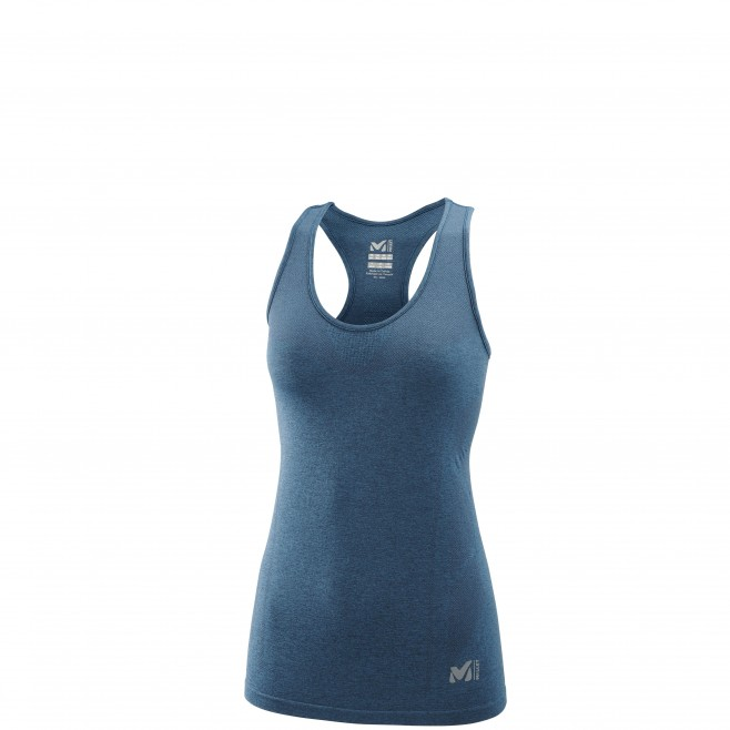Women's tank top - trail running - navy-blue LD LTK SEAMLESS LIGHT TANK Millet