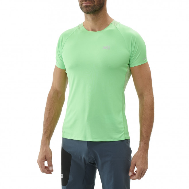 Men's short sleeves t-shirt - trail running - green LTK ULTRA LIGHT TS SS Millet 2