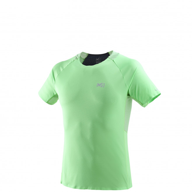 Men's short sleeves t-shirt - trail running - green LTK ULTRA LIGHT TS SS Millet