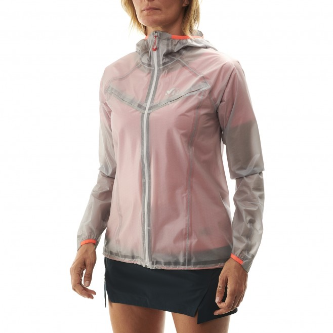 Women's waterproof jacket - grey LTK ULTRA LIGHT JKT W Millet 4
