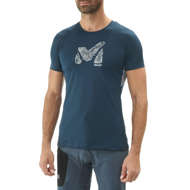 Men's short sleeves t-shirt - trail running - navy-blue LTK LIGHT TS SS Millet 2