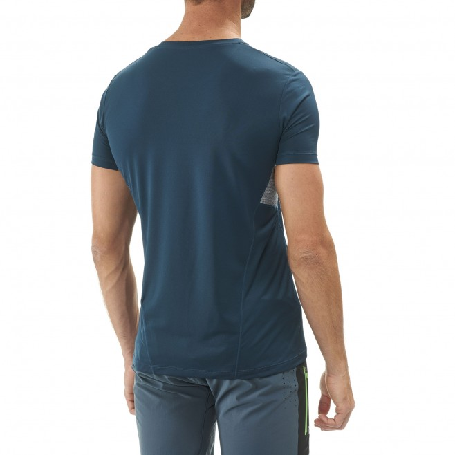Men's short sleeves t-shirt - trail running - navy-blue LTK LIGHT TS SS Millet 3