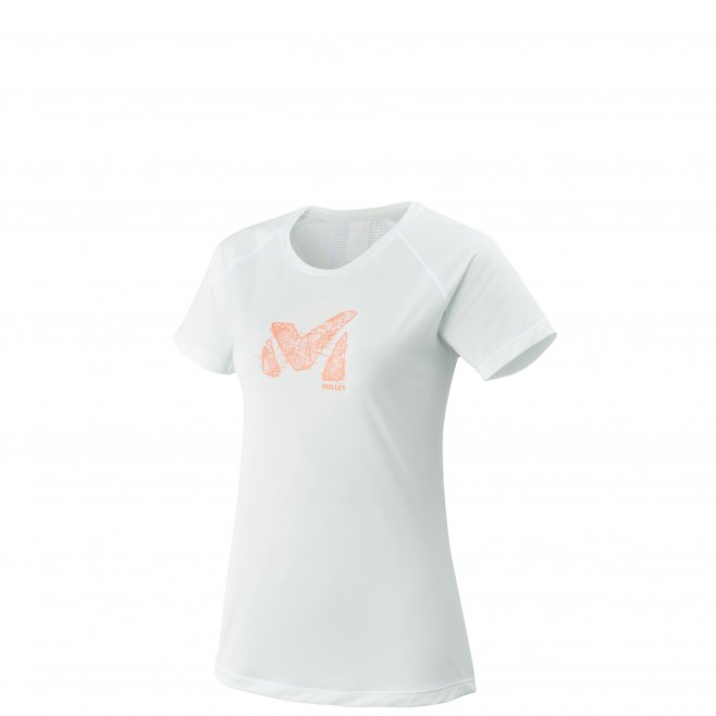 Women's short sleeves t-shirt - trail running - white LD LTK LIGHT TS SS Millet