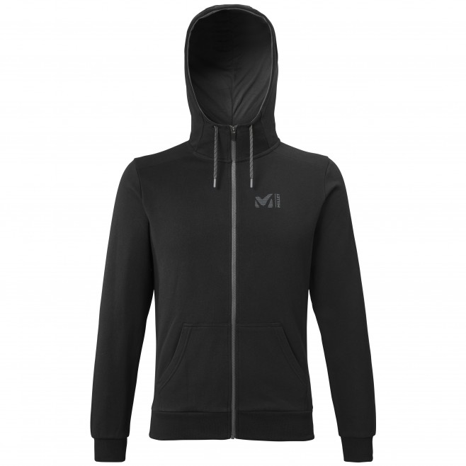 Men's sweat - black MILLET SWEAT ZIP HOODIE M Millet
