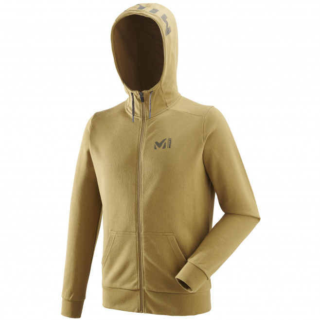 Men's urban look sweatshirt - yellow MILLET SWEAT ZIP HOODIE Millet