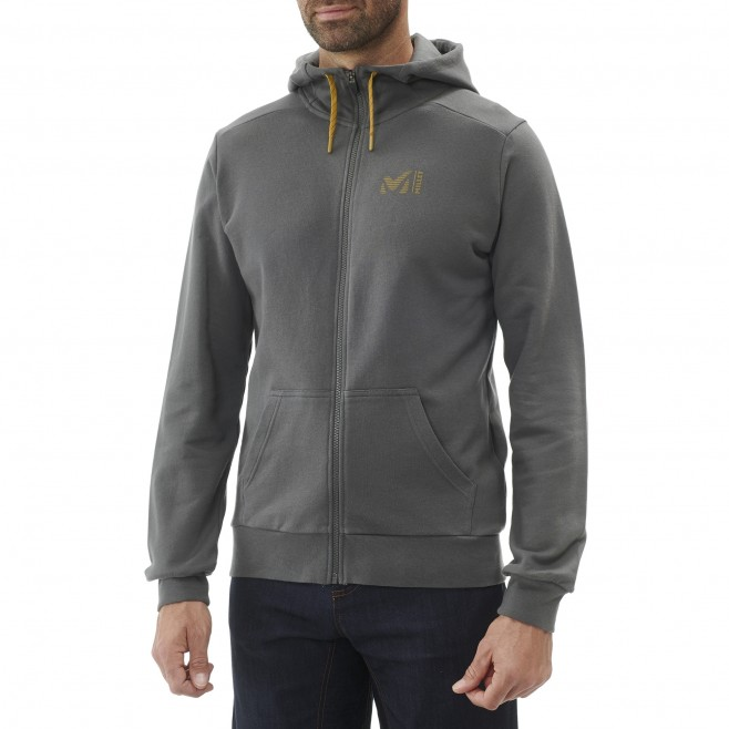 Men's sweat - black MILLET SWEAT ZIP HOODIE M Millet 2